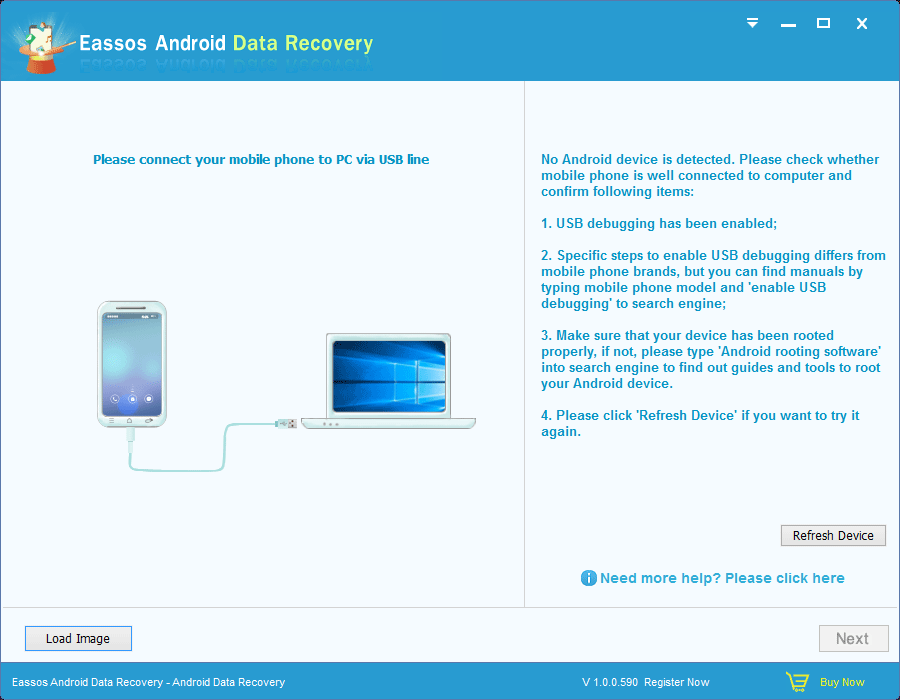 Eassos Android Data Recovery full screenshot