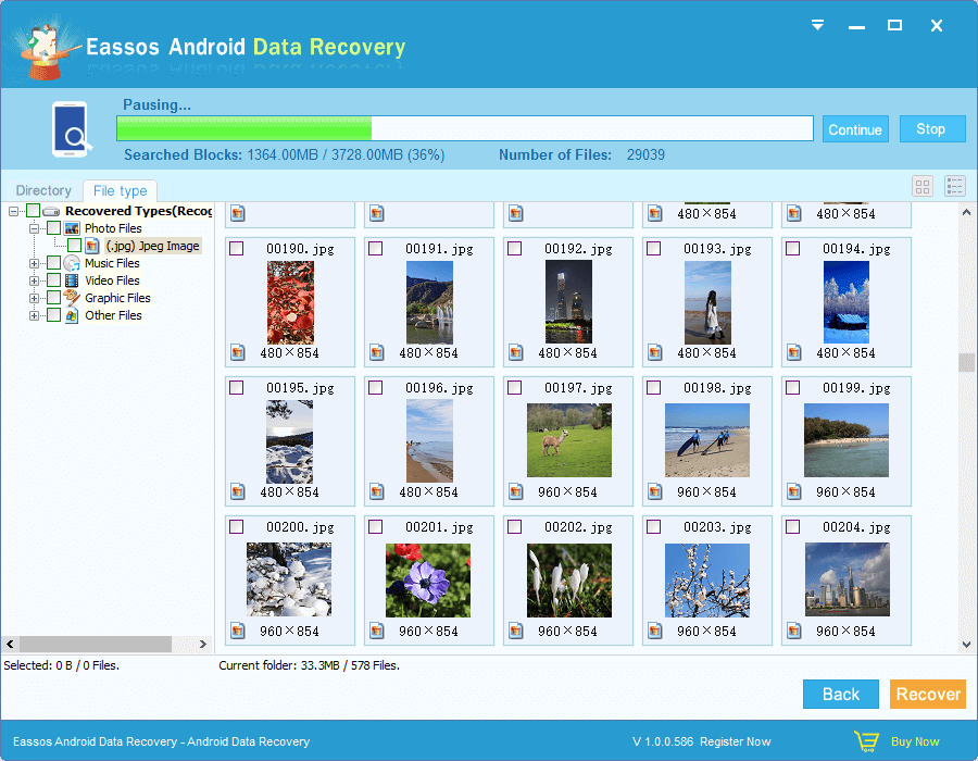 Preview Recovered Files – Eassos Android Data Recovery Online Help