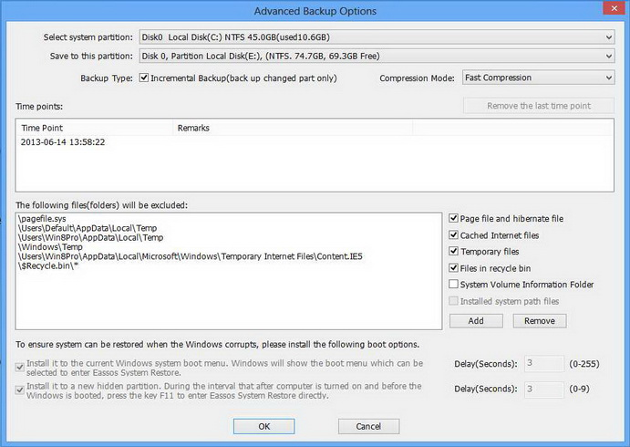 carry out incremental for Windows