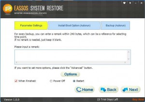 Eassos System Restore- backup Windows 02