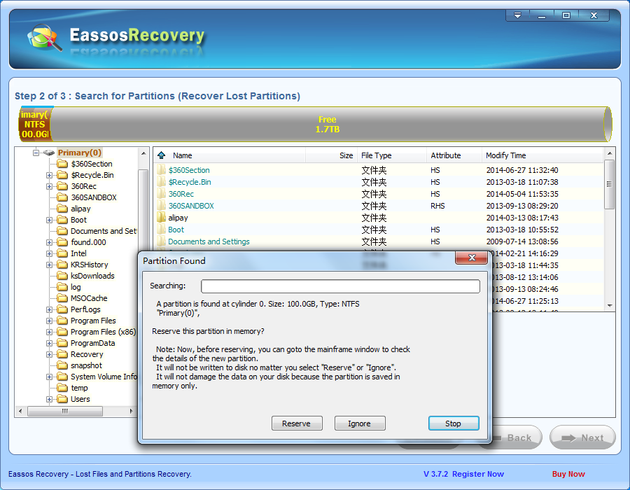 Free partition recovery software recover lost partitions after repartition eassos blog - How to recover partition table ...