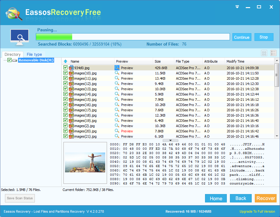 Unformat SD card with free photo recovery software