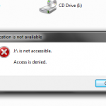 drive not accessible. access is denied