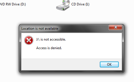 how to open my external drive its not open