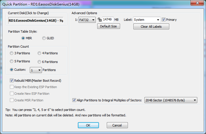How to restore USB drive back to full capacity? | Eassos Blog
