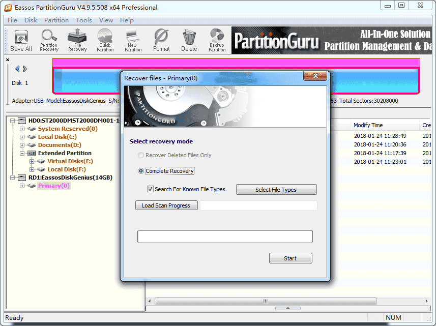 Linux Partition Recovery