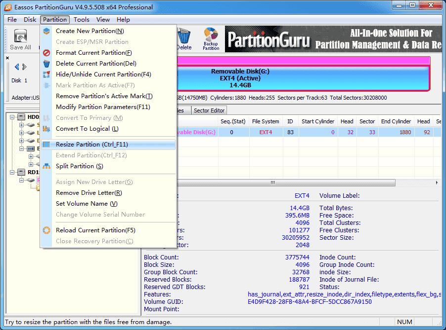 Resize Ubuntu Partition Without Data Loss