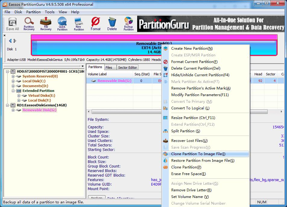 backup Ubuntu partition