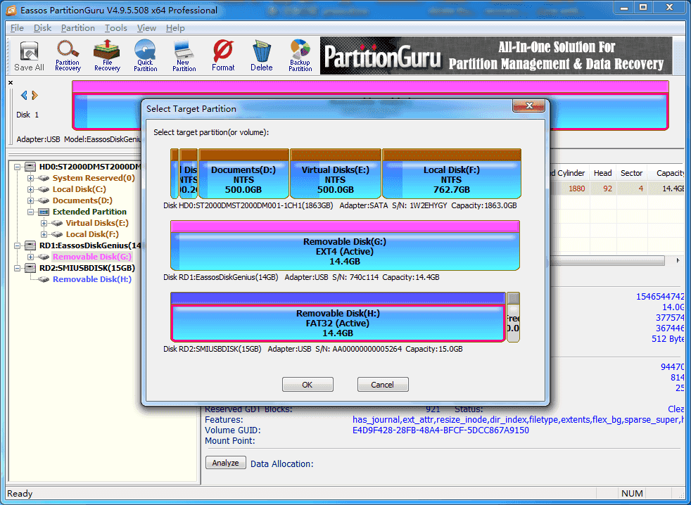 clone ext4 Linux partition in Windows