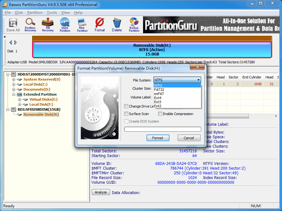 format an SSD in Windows 10