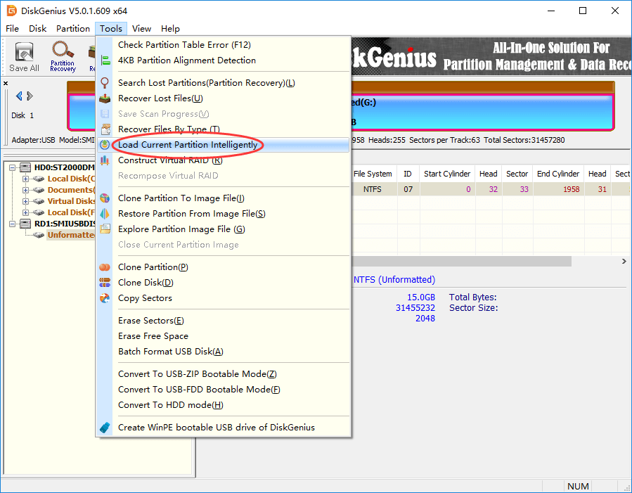 The disk in drive is not formatted