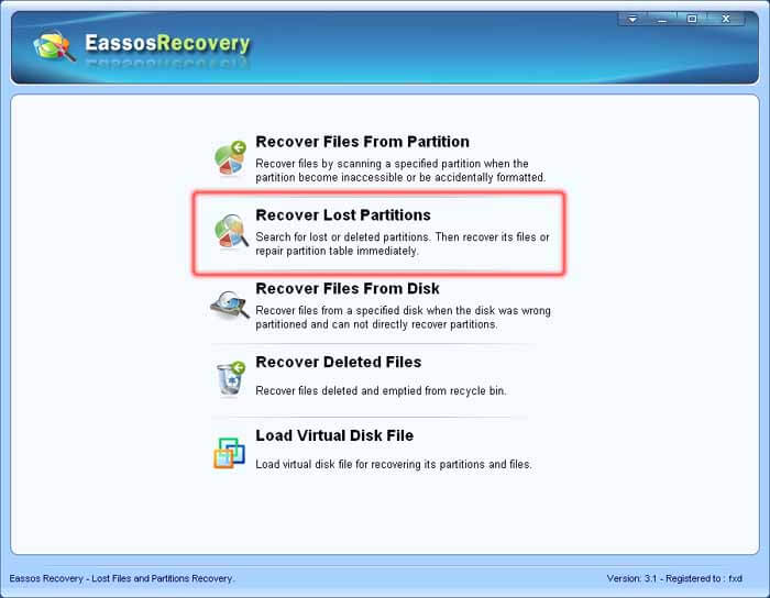 eassos recovery licence code