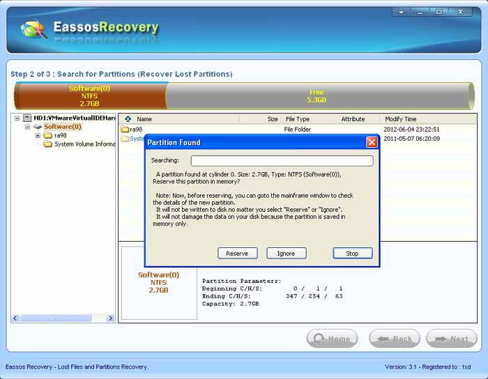 Free Partition Recovery For Windows - Eassos