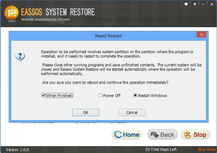 eassos system restore download