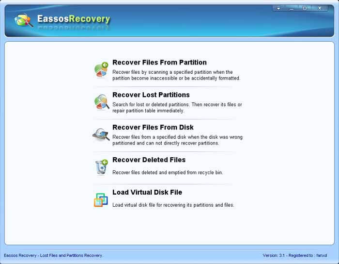 Partition Recovery and File Recovery with Eassos Recovery - Eassos