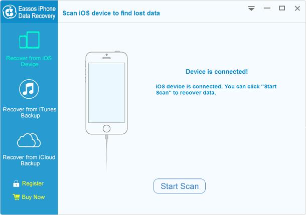 Eassos iPhone Data Recovery full screenshot