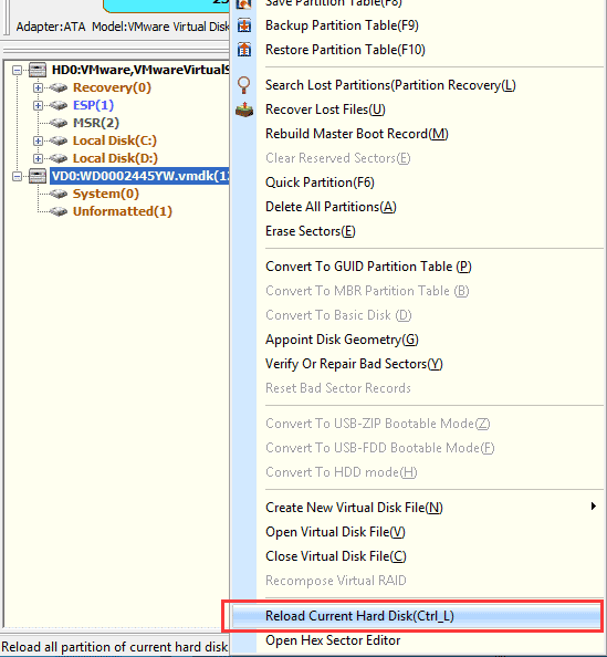 Create new partitions with PartitionGuru – How to use hard