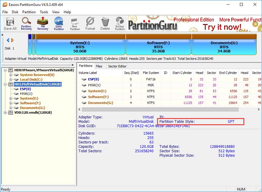 Msr partition